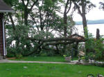 Sunday nights storm on June 9th was pretty harsh on the north side of Pelican Lake