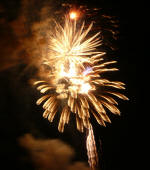 This year was a spectacular fireworks display in conjunction with music.