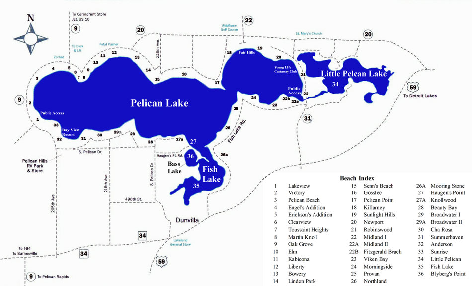 Maps Pelican Lake Proptery Owners Association